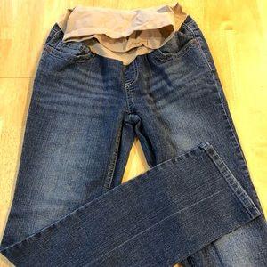 Indigo blue maternity jeans size extra small